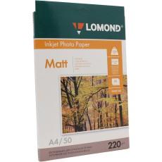 Фотобумага Lomond матовая двусторонняя A4, 220 г/м2, 50 л. (0102144)
