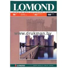 Фотобумага Lomond матовая односторонняя A3, 90 г/м, 100 л. (0102011)