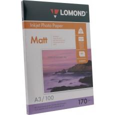 Фотобумага Lomond матовая двусторонняя A3, 170 г/м2, 100 л. (0102012)