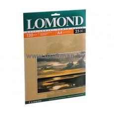 Фотобумага Lomond матовая односторонняя  A4, 120 г/м, 25 л. (0102030)