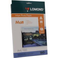 Фотобумага Lomond матовая односторонняя A4, 160 г/м, 100 л. (0102005)