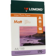 Фотобумага Lomond матовая двусторонняя A4, 170 г/м, 100 л. (0102006)