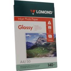 Фотобумага Lomond глянцевая односторонняя A4, 140 г/м, 50 л. (0102054)
