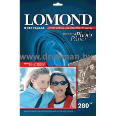 Фотобумага Lomond (SuperGlossy) cуперглянцевая односторонняя A4, 280 г/м, 20 л. (1104101)
