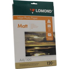 Фотобумага Lomond матовая двусторонняя А4, 190 г/м2, 50 л. (0102015)
