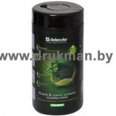 Салфетки Defender для пластиковых и окрашенных поверхностей (CLN 30300), 100 шт., туба