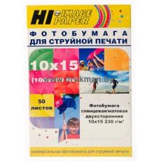 Фотобумага Hi-IMAGE глянц/матовая двусторонняя 10x15, 230 г/м, 50 л.