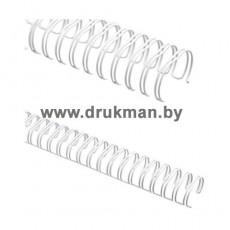 Металлическая пружина для переплета d= 16 мм (5/9) / Белая / 100 шт.