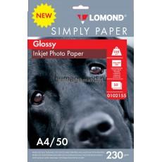 Фотобумага Lomond глянцевая односторонняя экономомичная А4, 230 г/м2, 50 л. (0102155)