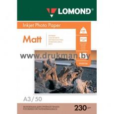Фотобумага Lomond матовая односторонняя A3, 230 г/м, 100 л. (0102156)