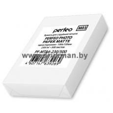 Фотобумага Perfeo матовая односторонняя 10х15, 230 г/м2, 500 л. (M03)