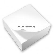 Блок для записей, кубарик, блок бумажный 90х90 мм, 80 г/м2, 500 л.